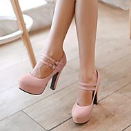 Chaussures Femme - Bureau & Travail / Habillé - Vert / Rose / Violet / Beige - Talon Aiguille - Talons / A Plateau / Bout Arrondi - Talons