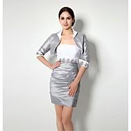 Sheath/Column Mother of the Bride Dress - Multi-color Short/Mini Satin
