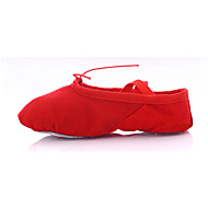 Customizable Women's/Men's/Kids' Dance Shoes Ballet Canvas Flat Heel Black/Pink/Red/White/Multi-color