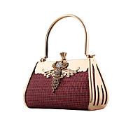 Women leatherette Wedding Evening Bag Blue / Gold / Red