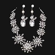 Damen Schmuck-Set Kristall/Künstliche Perle Legierung