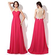 Formal Evening Dress - Fuchsia Plus Sizes / Petite A-line Sweetheart Floor-length