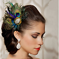ручной свадебный волосы перо чародей заставки fascinators 004
