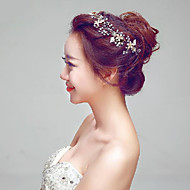 Champagne Gold Gorgeous Rhinestones Wedding/Party Bridal Headpieces with Imitation Pearls