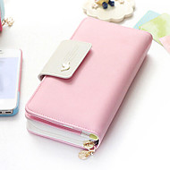 Women 's PU Wallet - Pink/Blue/Green/Red