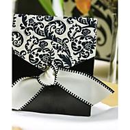 Geschenkboxen ( Schwarz/Weiß , Kartonpapier/Seiden ) - Nicht personalisiert -Hochzeit/Jubliläum/Brautparty/Babyparty/Quinceañera & Der