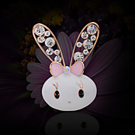 Women's Alloy Cute Rabbit Casual/Party Brooches & Pins With Rhinestone