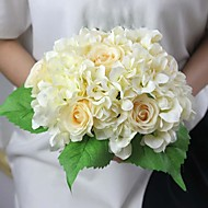 "11.4""H Hydrangea and Rose Artificial Flower for Decoration and Wedding Bouquet 1 Bunch"