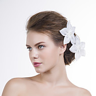 Women Organza Flowers With Imitation Pearl Wedding/Party Headpiece(Set 0f 2)