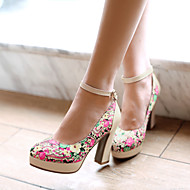 Women's Shoes  Stiletto Heel Heels/Round Toe Pumps/Heels Office & Career/Dress Green/Pink/White/Beige