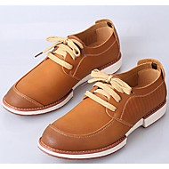 Men's Shoes Casual Leather Oxfords Brown/Burgundy