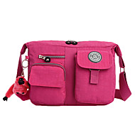 Women's Waterproof Nylon Zipper Pockets Durable Shoulder Bag