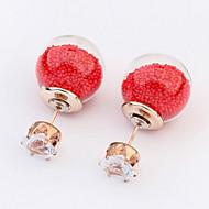 Women's Fine Fashion Transparent Hollow Stud Earrings With Rhinestone