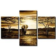 Handgeschilderde Abstract Drie panelen Canvas Hang-geschilderd olieverfschilderij For Huisdecoratie