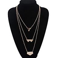 Women's Irregular Shape Sequin Gold Necklace