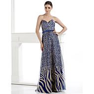 TS Couture Formal Evening Dress - Sheath/Column Sweetheart Floor-length Chiffon