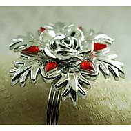 acrylique anneau flocon de neige de décoration de serviette, acrylique, 1.77inch, set de 12