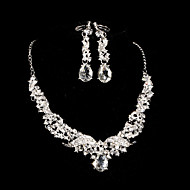2015The new bride necklace classic retro drop earrings two luxury diamond jewelry wedding jewelryTM-SET0026