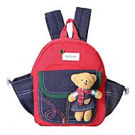 Unisex Velvet Outdoor Backpack / School Bag Green / Yellow / Red