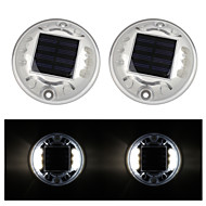 Pack of 2 Solar 6-LED Outdoor Road Driveway Dock Path Ground Light Lamp