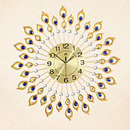 modern style fashion creative tuba diamond with iron mute wall clock - Designer Wall Clocks Online
