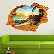 Botanisch / Cartoon / Romantiek / Stilleven / Spiegels / Mode / Feest / Transport / 3D Wall Stickers 3D MuurstickersDecoratieve