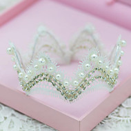 European style Rhinestones Titanium Wedding/Party Bridal Headpieces/Tiara with Imitation Pearls
