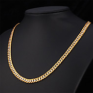 U7® Men's New Trendy 22'' Platinum 18K Real Gold Plated Fancy Two Tone Gold Plated Chunky Chain Necklace