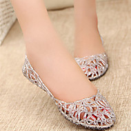 Non Customizable Women's Dance Shoes Belly/Ballet/Modern/Gymnastics Silicone Flat Heel Black/Pink/Silver