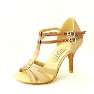 Customizable Women's Dance Shoes Leatherette Leatherette Latin / Salsa Sandals Customized Heel Practice / Beginner / IndoorBlack / Blue /