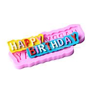 forma happy-aniversário molde fondant bolo decoração do molde