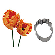 FOUR-C Stainless Steel Cutter Parrot Tulip Flower Biscuit Cake Cookie Cutters Baking Cookie Fondant Decorating Mold