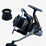 EXcellent 14 Ball Bearings  10000size 4.1:1  Surf fishing  reel  Spinning Reels fishing rolls sea metal reel Exchangable