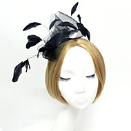 2015Women's Lace/Feather/Rhinestone/Tulle Headpiece - Wedding/Special Occasion Fascinators 1 PieceHA5081