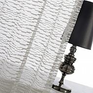 One Panel Ivory Mosaic Jacquard Sheer Curtain Drape