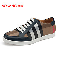 Running Shoes Aokang Men's Shoes Outdoor/Athletic/Casual Fabric Fashion Sneakers Black/Blue
