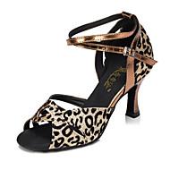 Customizable Women's / Kids' Dance Shoes Leatherette Leatherette Latin Heels Flared HeelBeginner / Professional / Indoor / Outdoor /