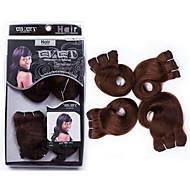 evet 6a malaysiska jungfru hår förkroppsligar vinkar människohår väver 4 buntar 120g / lot jungfru malaysiska kropps våg förlängningar