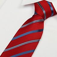 Red and Black Striped Arrow Type Jacquard Men Necktie Tie