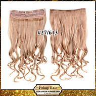 24inch 60cm 120g barva 27/613 # klip na prodlužování vlasů zprohýbané klip na příčesky