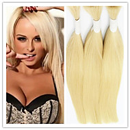 3Pcs/Lot Wholesale Blonde Hair Bulk,300G Peruvian Hair Bulk 14-32Inch,Raw 613 Bulk Unprocessed Hair Bulk For Braiding