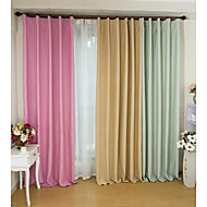 Two Panels European  Elegant Pure Color Shading Curtains