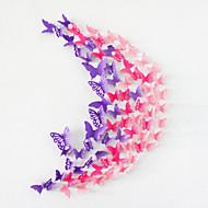 20pcs huecos pegatinas de pared de la mariposa etiquetas de la pared 3d decoración de la boda