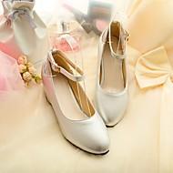 Women's Shoes Faux Leather Wedge Heel Heels Pumps/Heels Office & Career/Casual Black/Green/Purple/Red/Silver/Beige
