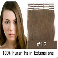 extensiones de cabello cinta pu trama de la piel # 613 de lejía rubia de 20 piezas / paquete