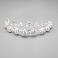 Dame/Blomsterpige Krystal/Legering/Imiteret Perle Medaljon Bryllup/Speciel Lejlighed Pandebånd Bryllup/Speciel Lejlighed 1 Stykke