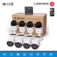 kits cotier®8ch NVR HD Mini NVR 720p / 960p / 1080p / p2p / vision de nuit / caméra IP n8b-mini