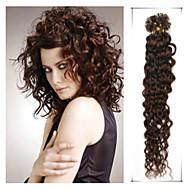 grau 5a 1pc / lot 20inch / 50 centímetros multicolors fusão encaracolado / u ponta cabelo humano extensão do cabelo tece 0,5 g / s
