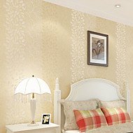 New Rainbow™ Wallpaper Vertical Stripes Floral Floral Wall Covering , Floral Non-woven Paper