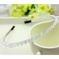 Coréia do Sul importou hairpin cabeça de strass frisado decorações de argola dupla faixa de cabelo de cristal transparente linha branca